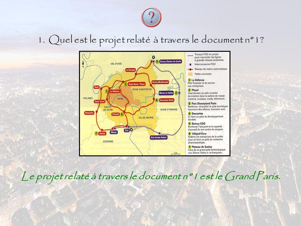Le projet relaté à travers le document n°1 est le Grand Paris.