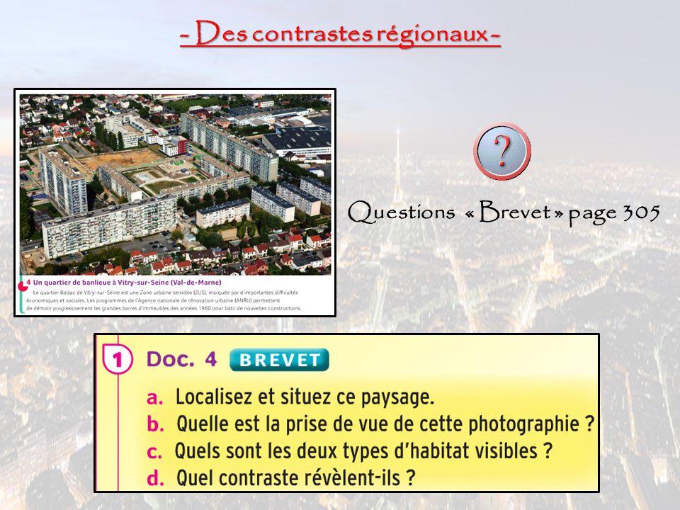 - Des contrastes régionaux -