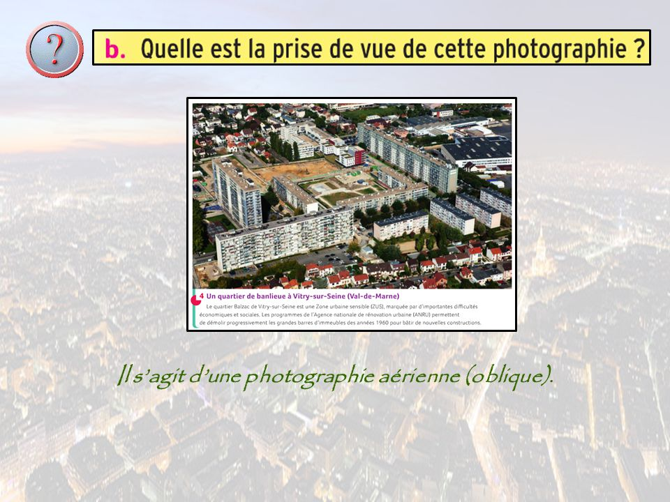 Il s'agit d'une photographie aérienne (oblique).