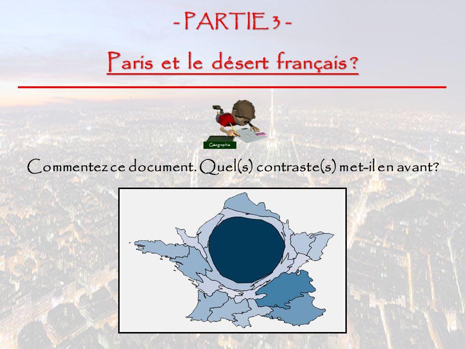 Paris et le désert français