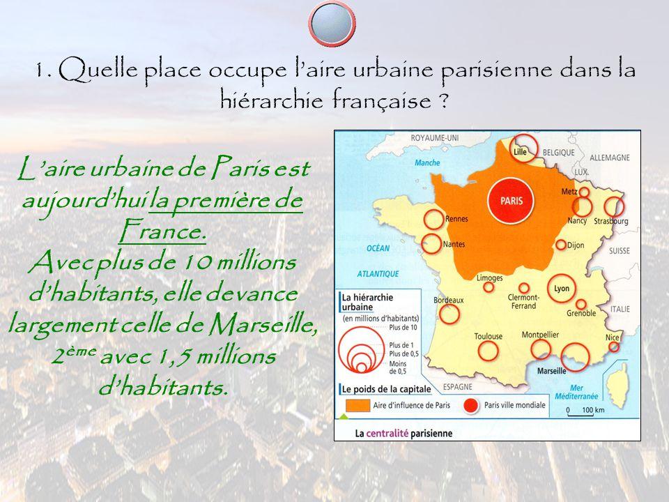 L'aire urbaine de Paris est aujourd'hui la première de France.