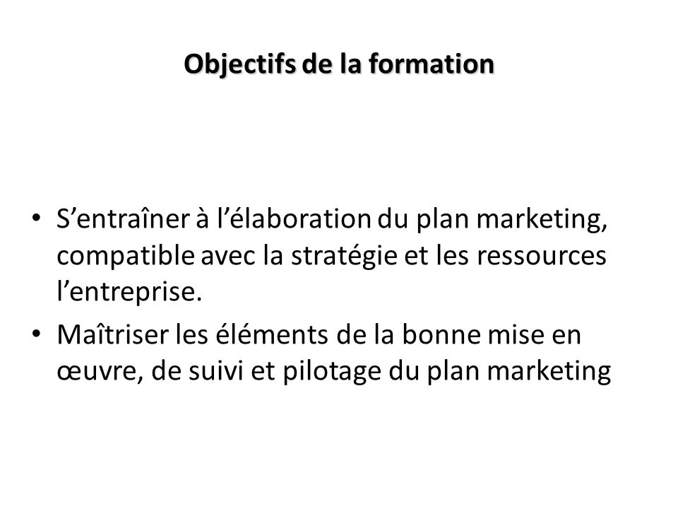 en  u0152uvre votre plan marketing