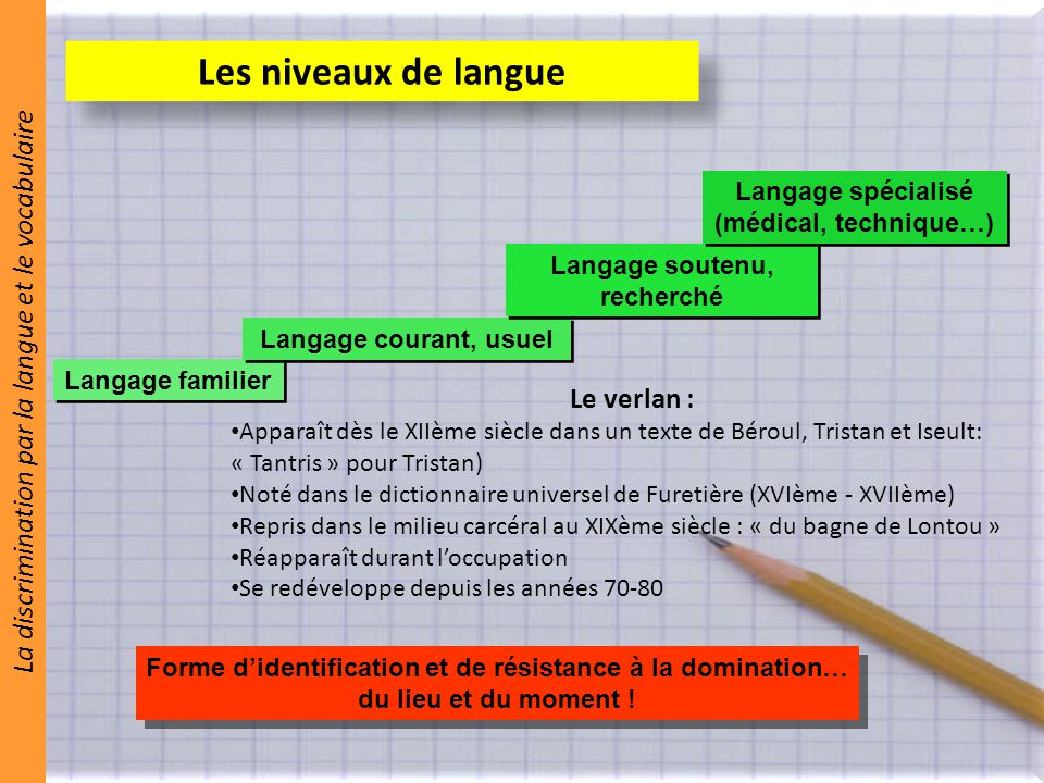 la discrimination par la proximit u00e9 2  u2013 la langue et le vocabulaire