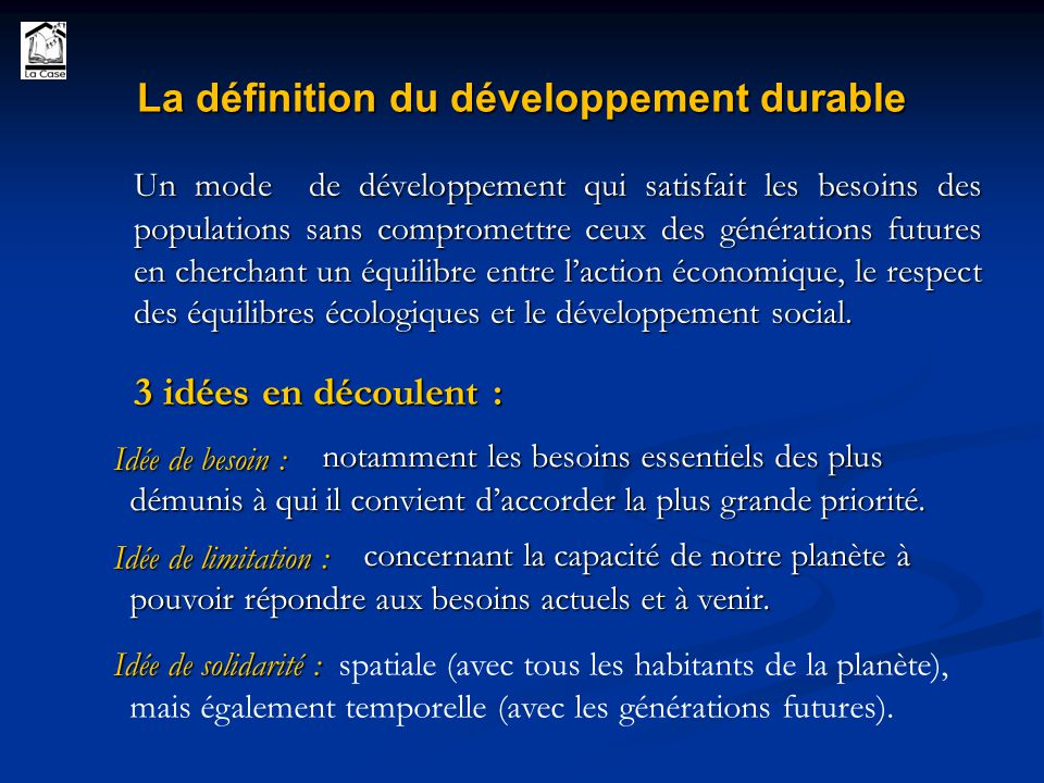 Fabuleux Le concept de Développement Durable - ppt video online télécharger HT46