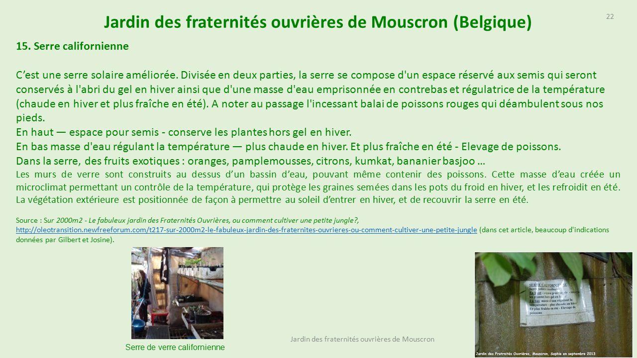 Jardin Des Fraternit S Ouvri Res De Mouscron Belgique Ppt  # Abris De Jardin Mouscron