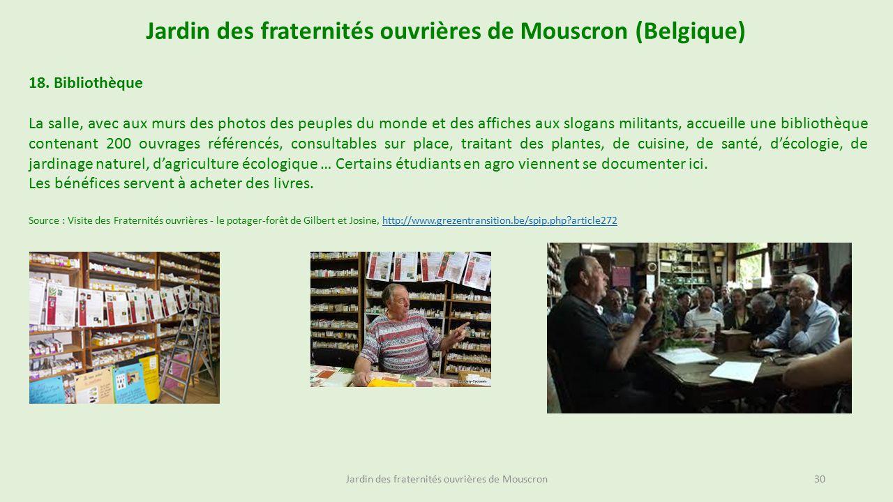 Jardin des fraternit s ouvri res de mouscron belgique - Acheter une serre de jardin en belgique ...