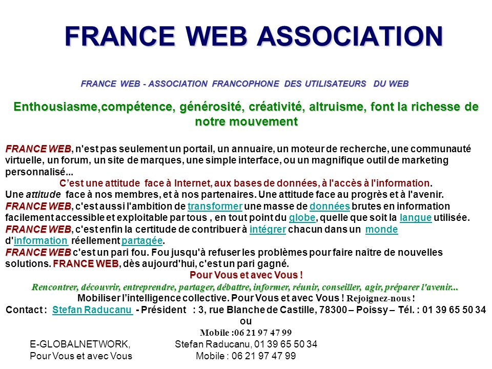 FRANCE WEB ASSOCIATION