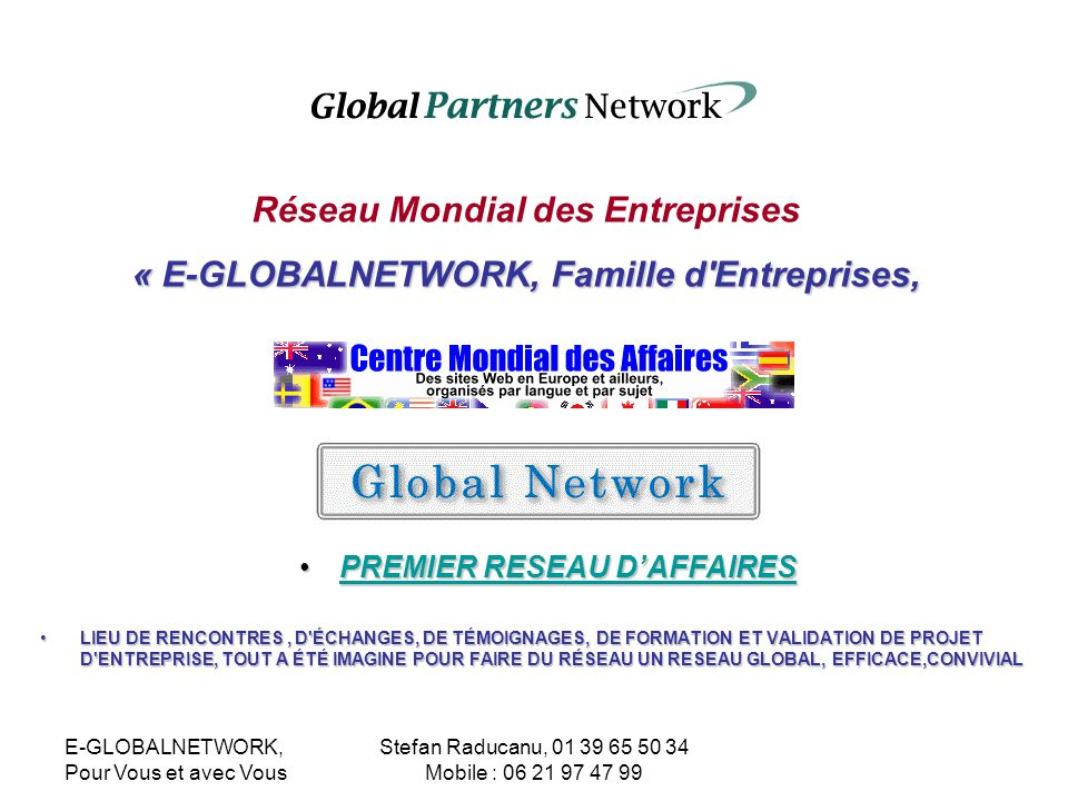 Réseau Mondial des Entreprises