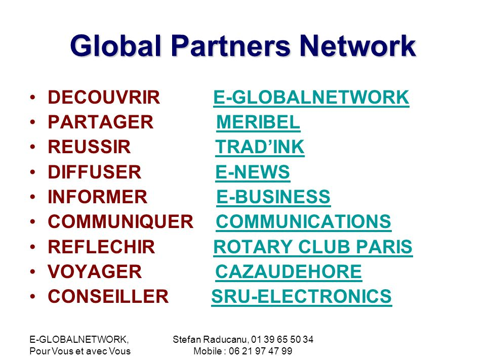 Global Partners Network