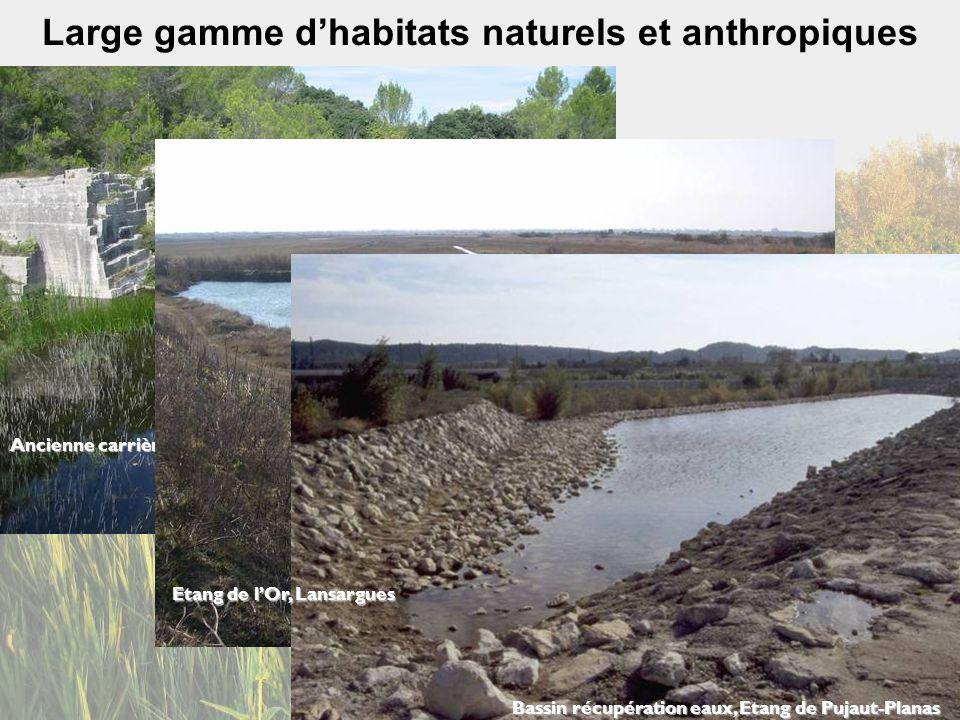 Large gamme d'habitats naturels et anthropiques
