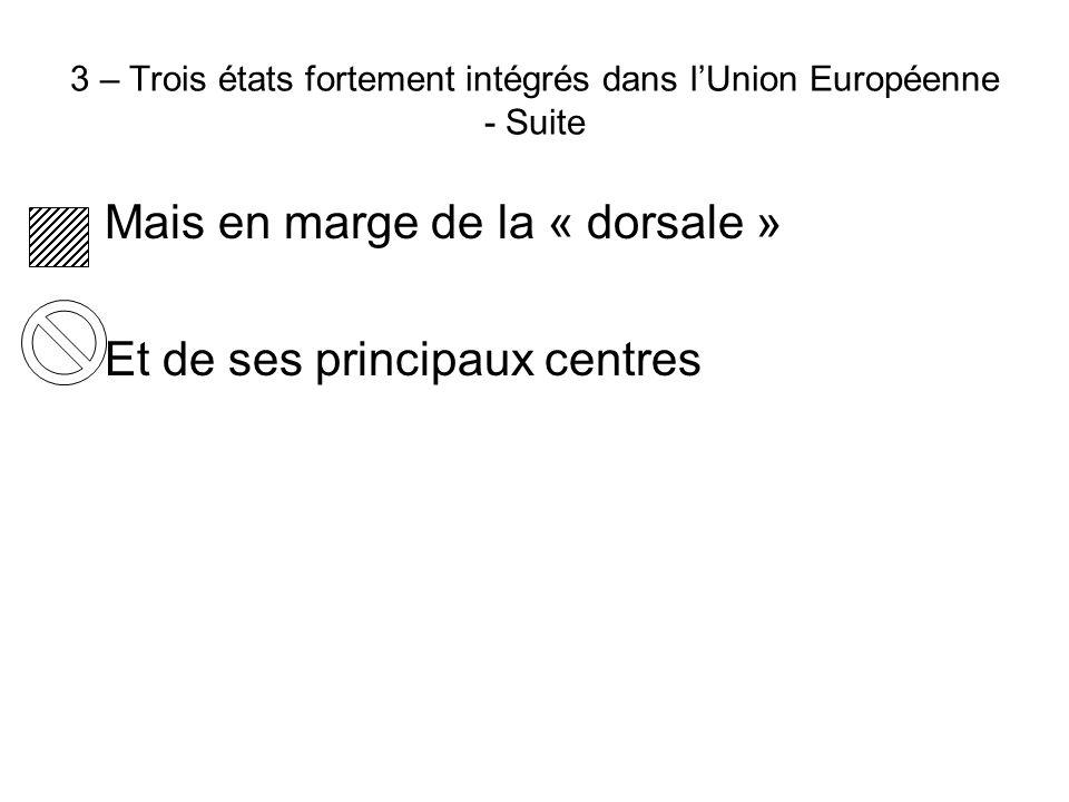 3 – Trois états fortement intégrés dans l'Union Européenne - Suite