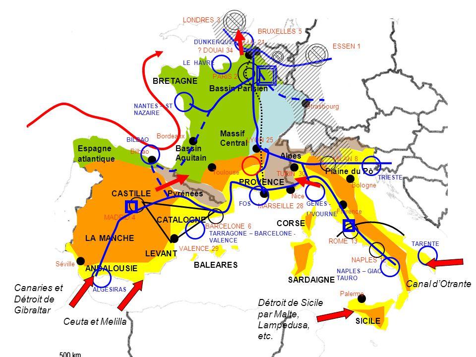 Canaries et Détroit de Gibraltar