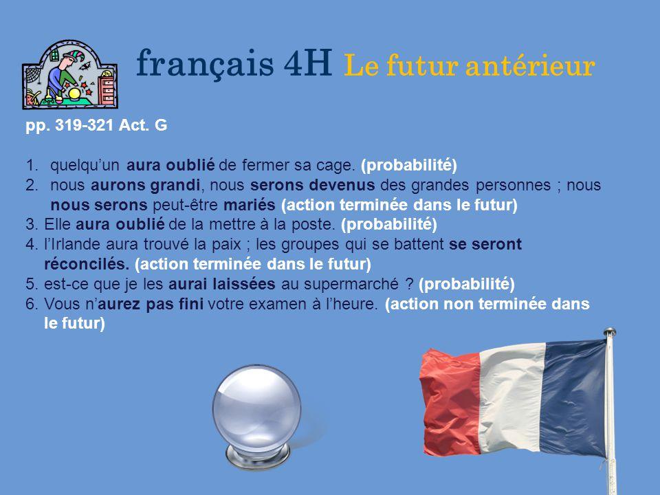 Fran ais 1 fran ais 4 honoraire fran ais 5 honoraire for Dans 9 mois nous serons 4