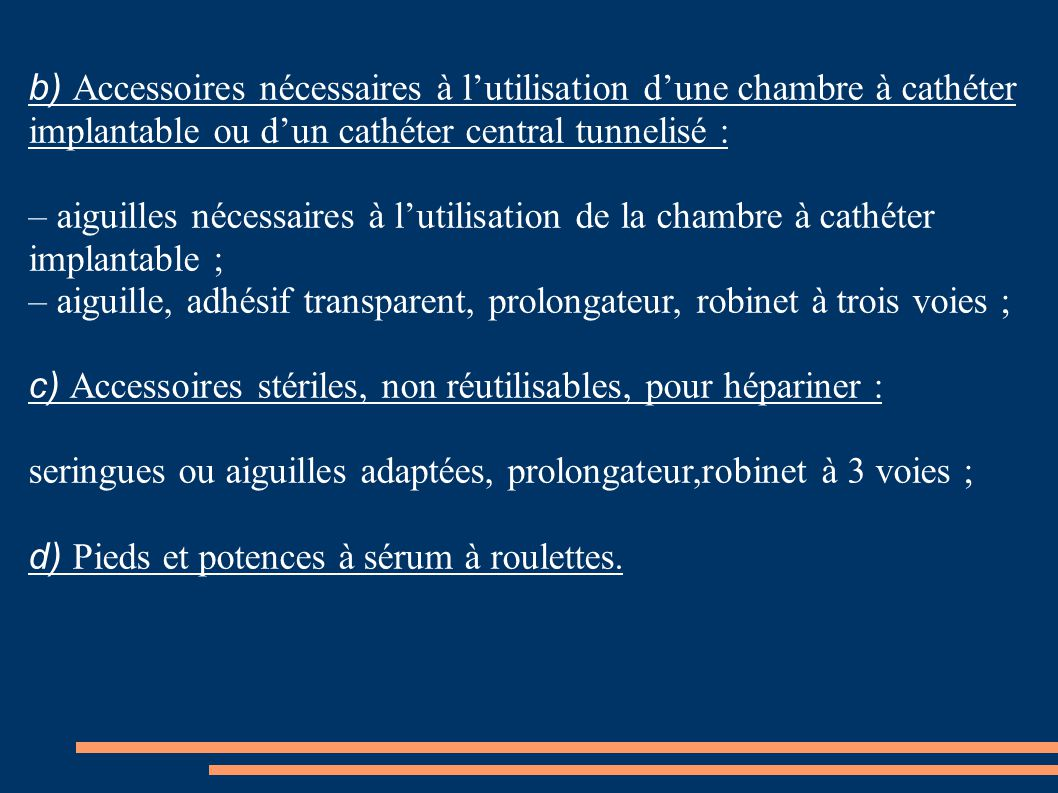 Pharmacologie g n rale ppt t l charger - Chambre a catheter implantable ...