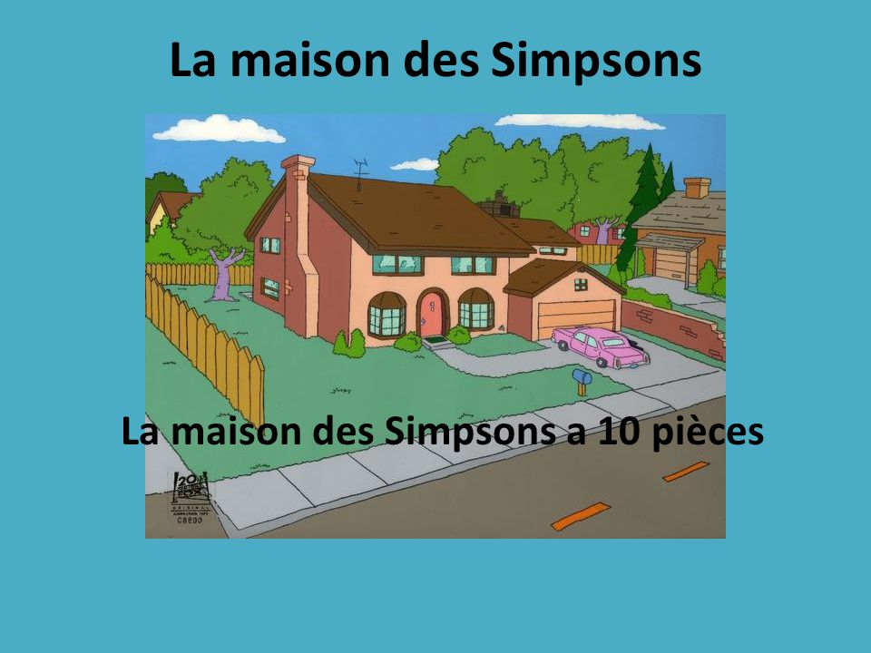 la maison des simpsons a 10 pi ces ppt video online. Black Bedroom Furniture Sets. Home Design Ideas