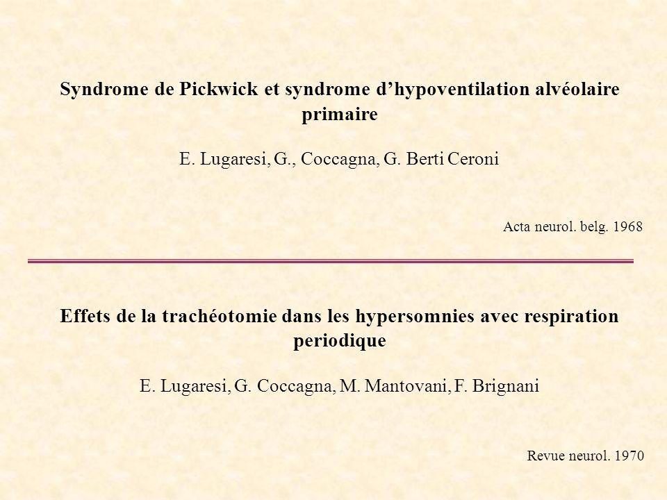 Syndrome de Pickwick et syndrome d'hypoventilation alvéolaire primaire