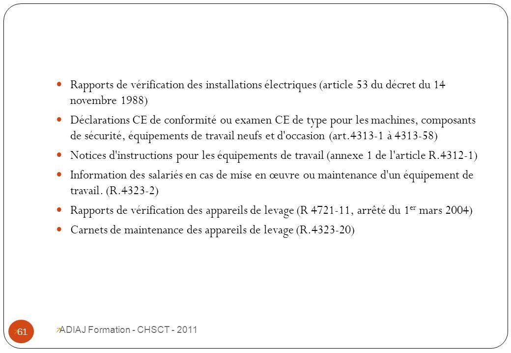 Prendre ses fonctions de membre du chs ppt t l charger - Verification des installations electriques ...