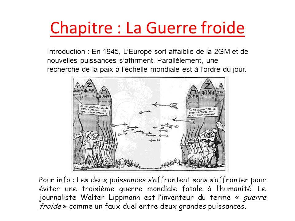 dissertation leurope comme enjeu de la guerre froide Trouve au cœur des affrontements de la guerre froide en 1945 w churchill constate dès 1946 qu'un « rideau de fer » coupe l'europe en deux.