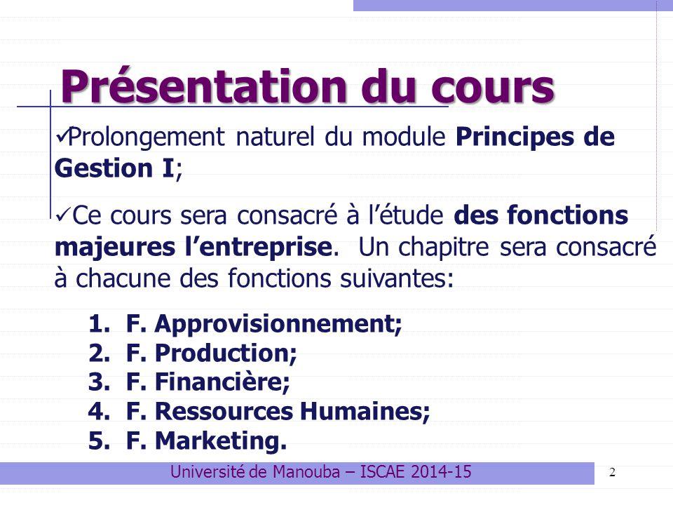 les fonctions de l'entreprise cours pdf