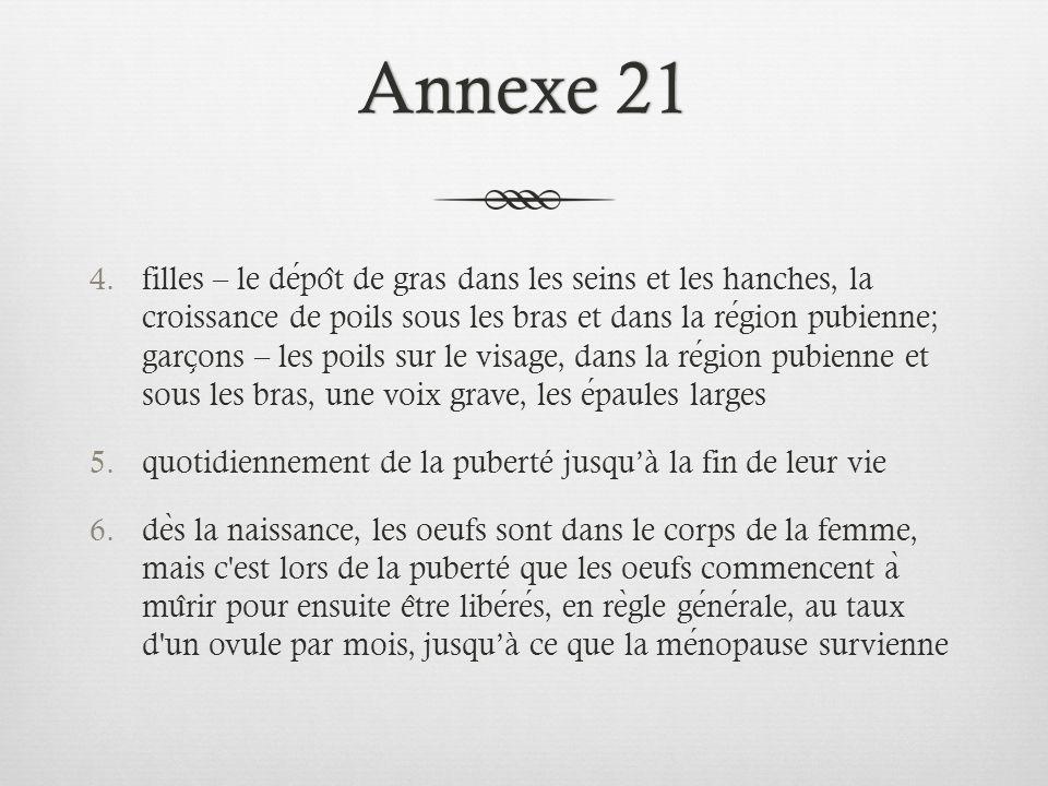 Annexe 21