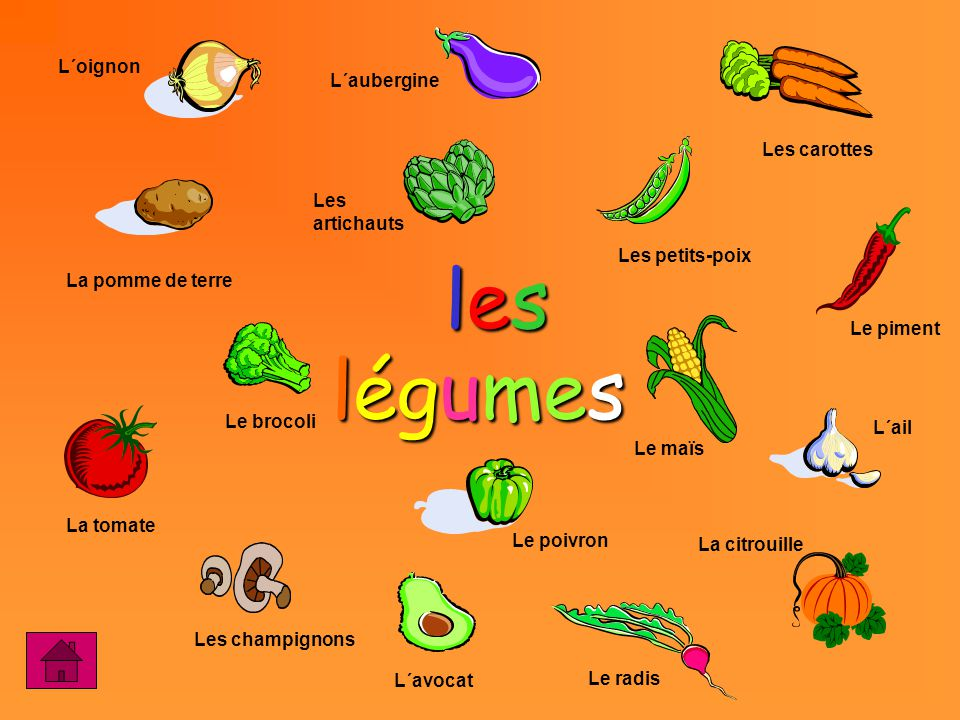 Image result for vocabulaire legumes