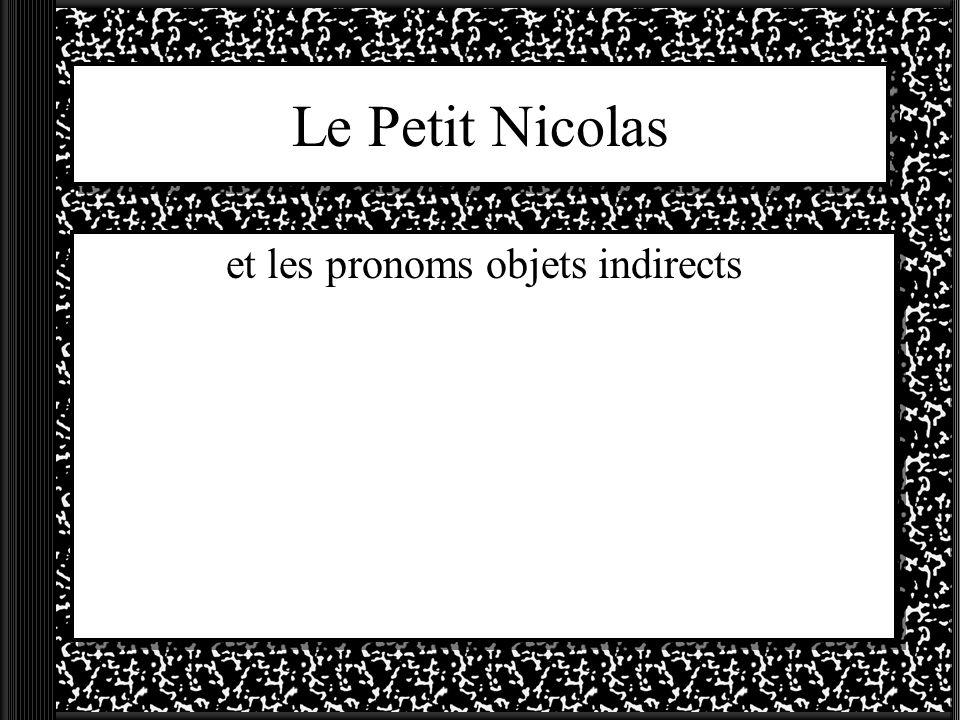 et les pronoms objets indirects