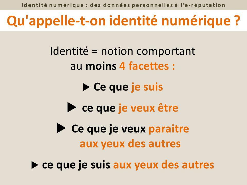 Qu appelle-t-on identité numérique