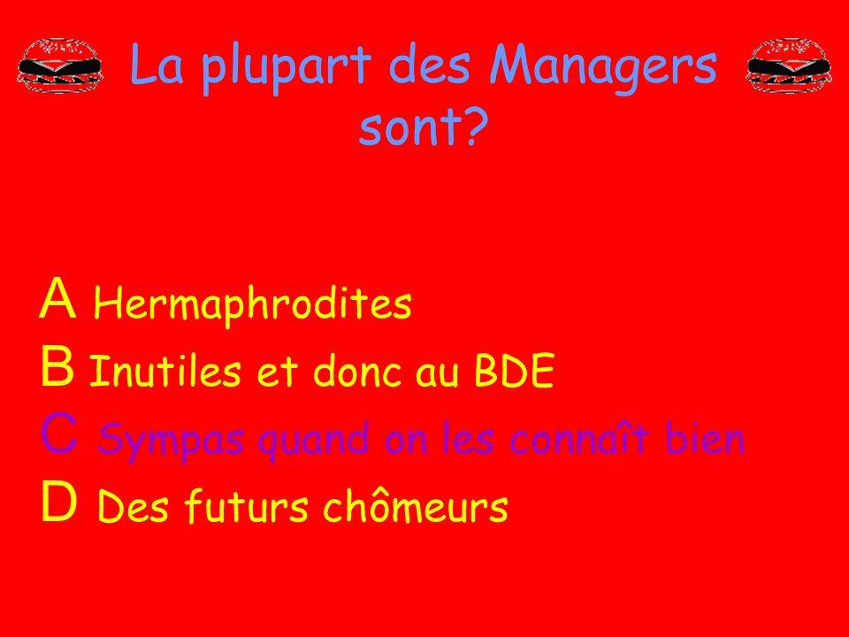La plupart des Managers sont