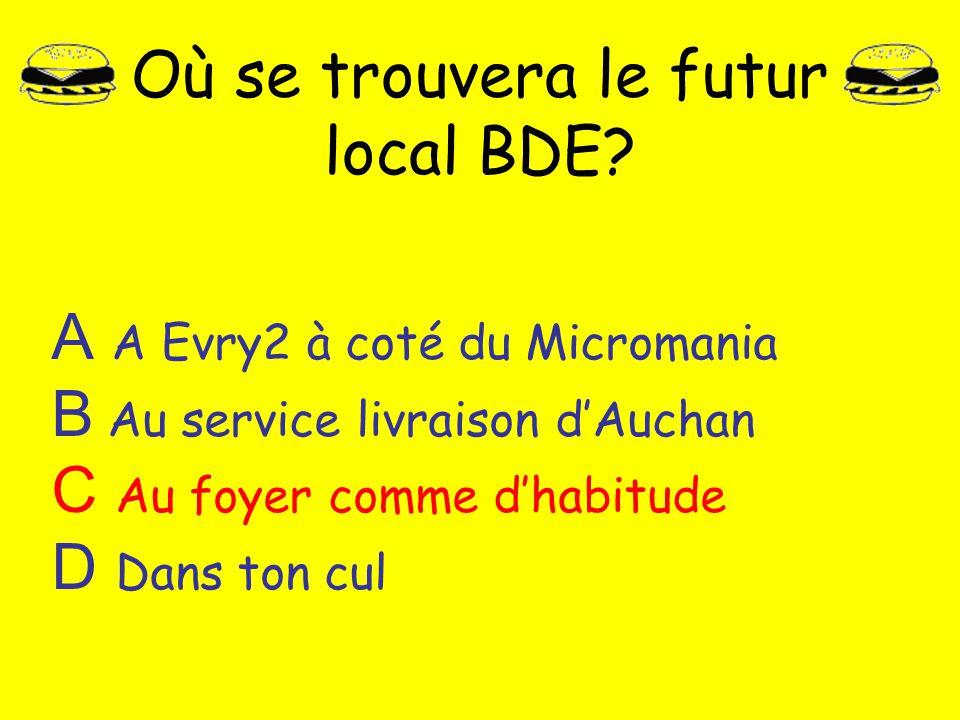 Où se trouvera le futur local BDE
