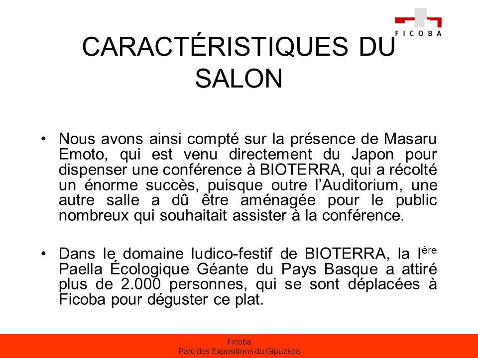 CARACTÉRISTIQUES DU SALON