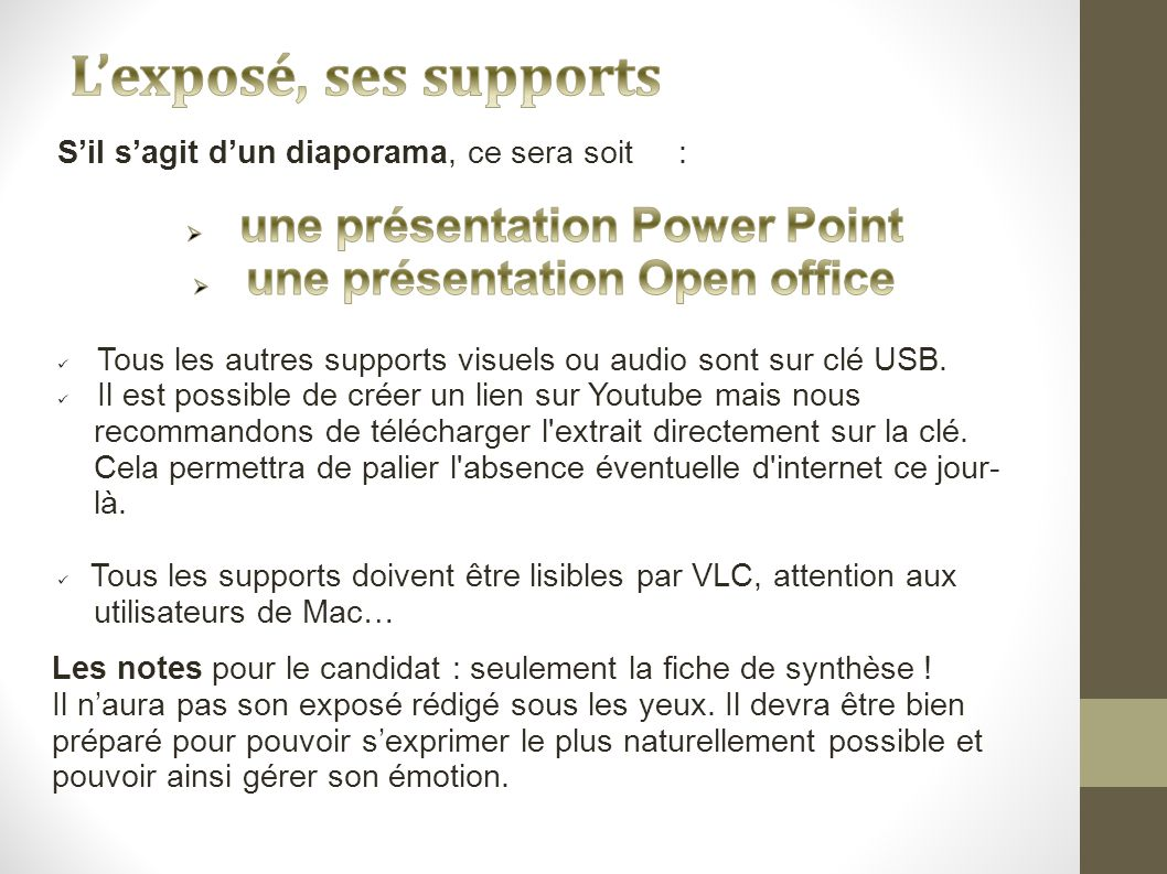 Coll ge notre dame dnb ppt t l charger - Comment faire un diaporama sur open office ...