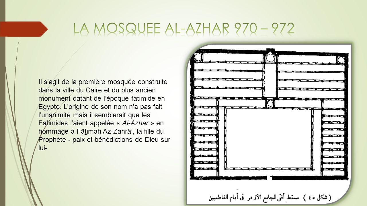 LA MOSQUEE AL-AZHAR 970 – 972