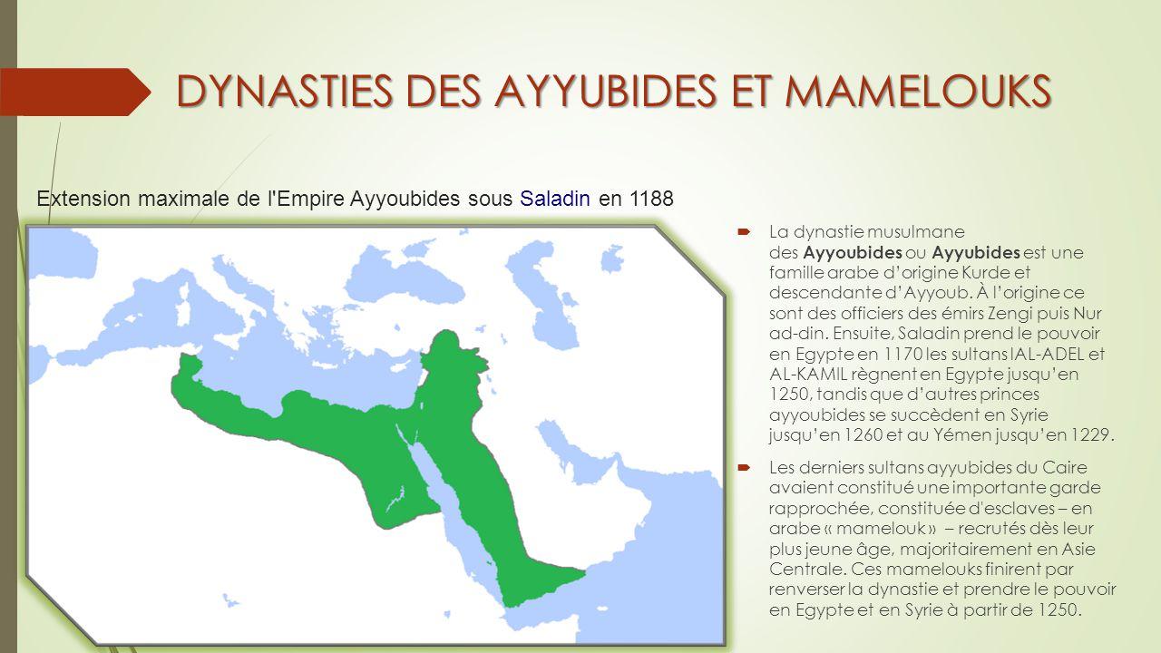 DYNASTIES DES AYYUBIDES ET MAMELOUKS