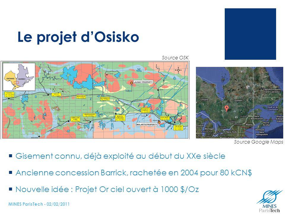 Le projet d'Osisko Source OSK.