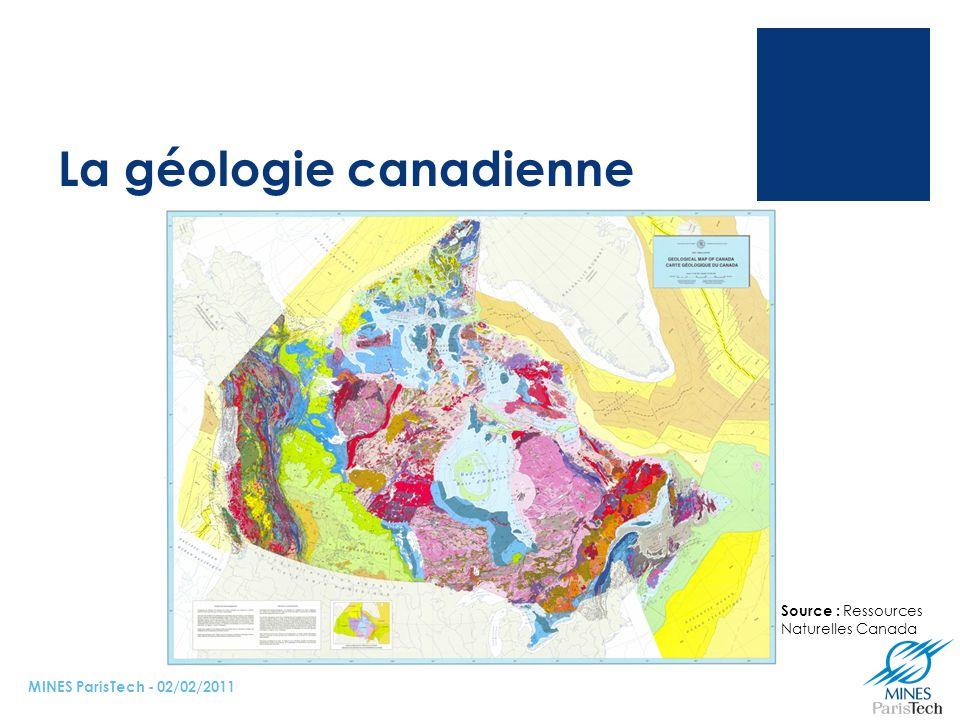 La géologie canadienne
