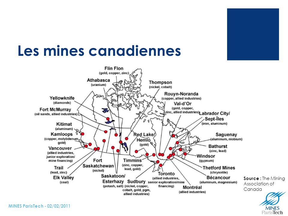 Les mines canadiennes NOTE Galex :