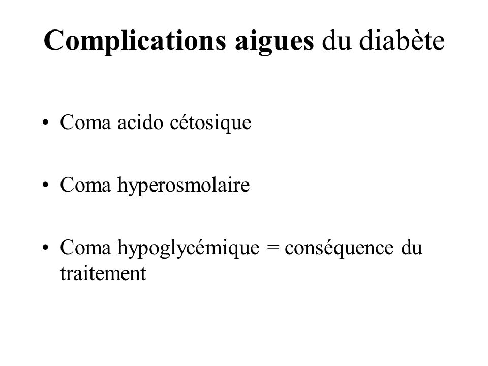 DIABETE COMPLICATIONS CHRONIQUES ET AIGUES - ppt video