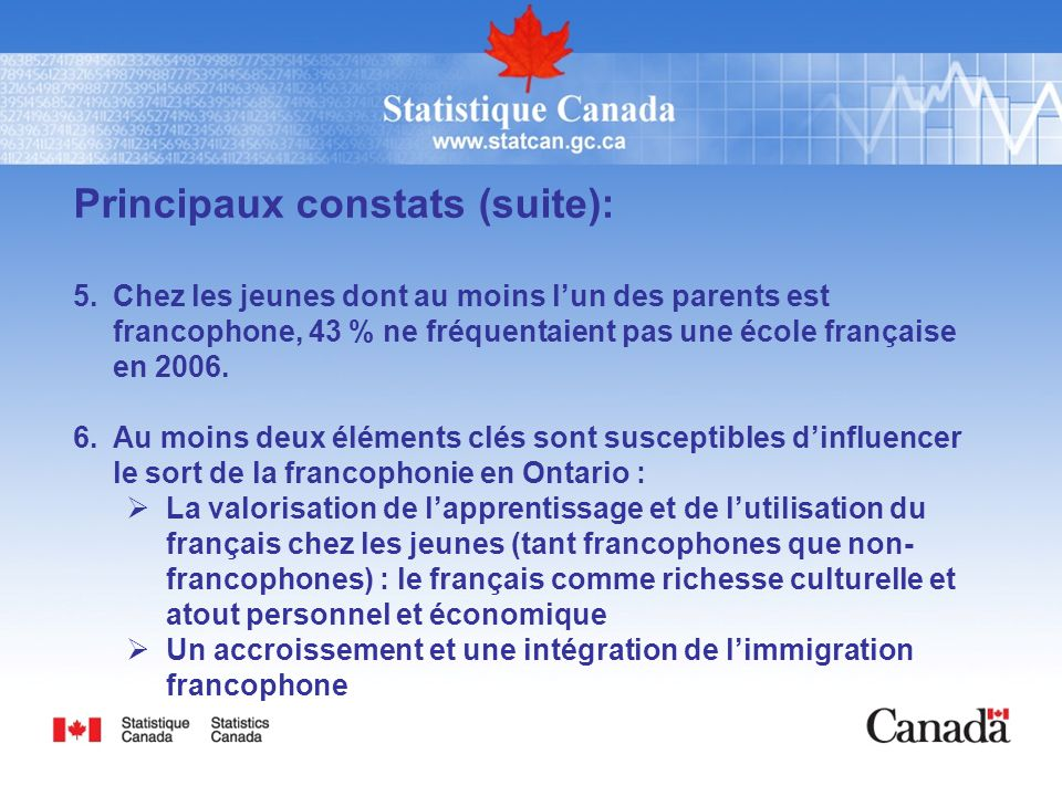 Linguistique de l ontario pal ppt video online t l charger - Office francaise d immigration et d integration ...