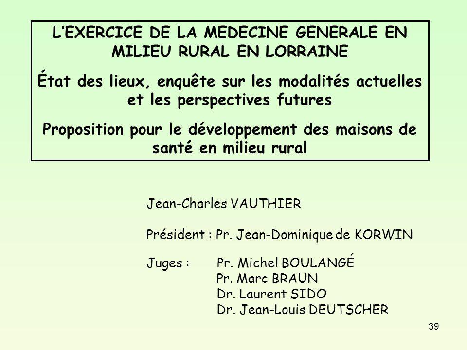 L exercice de la medecine g n rale en milieu rural en for En milieu rural