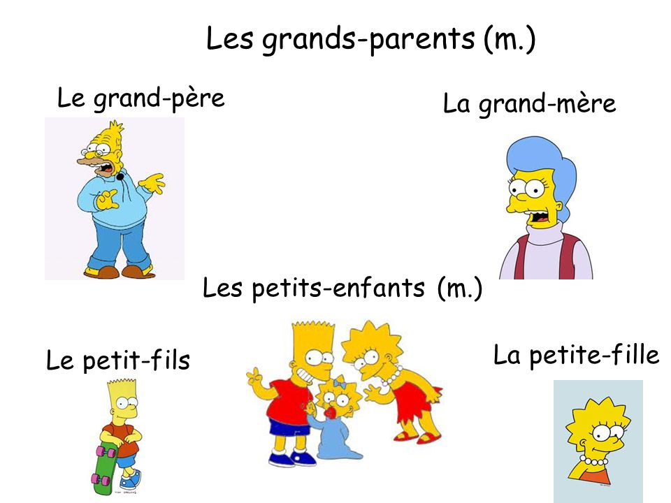 Les grands-parents (m.)