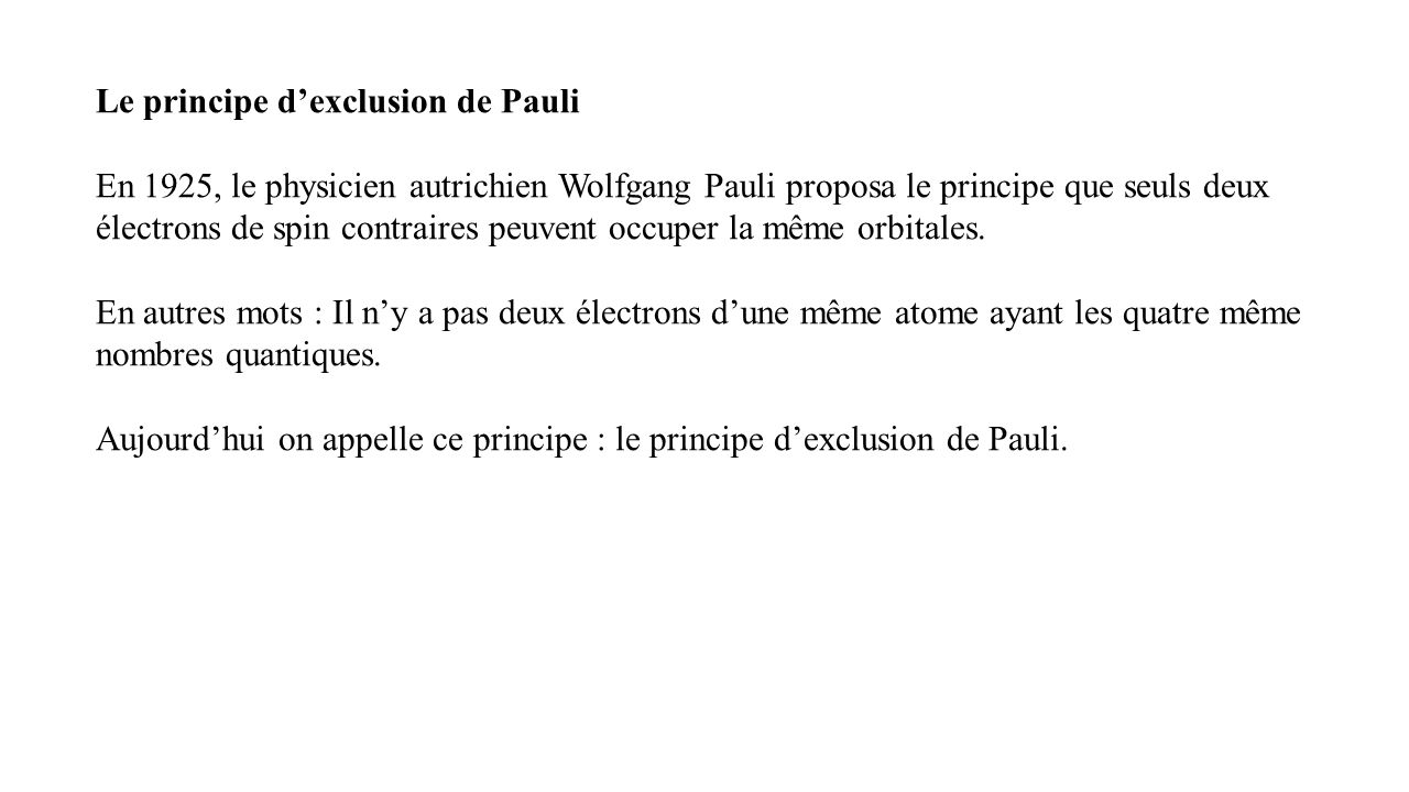 principe d exclusion de pauli pdf