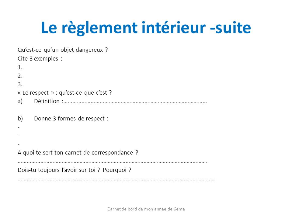 Definition de reglement interieur 28 images reglement for Le reglement interieur