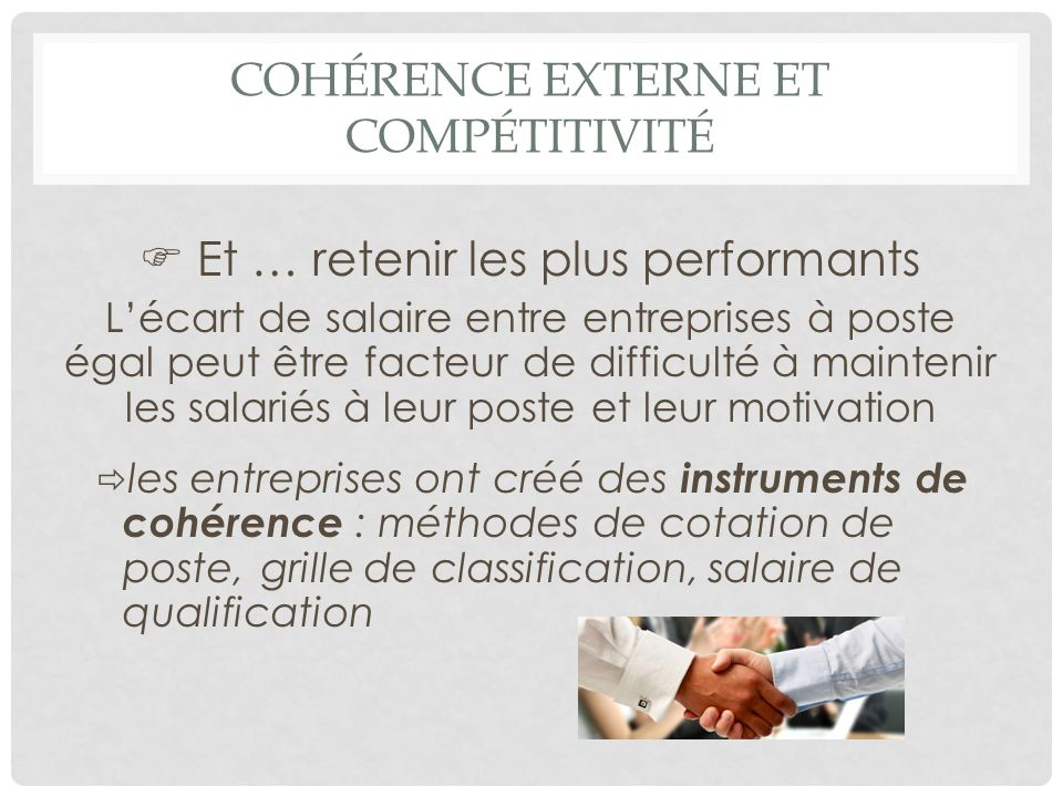 Cohérence externe et compétitivité