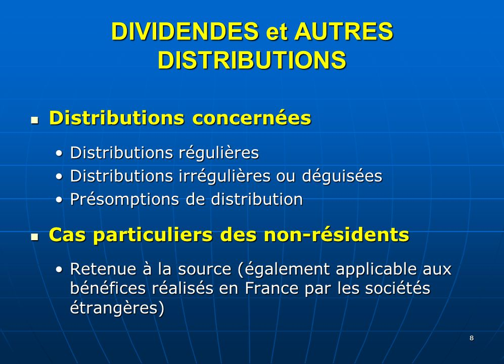 non liquidating distributions Under sec 331, a liquidating distribution is considered to be full payment in exchange for the shareholder's stock, rather than a dividend distribution, to the extent of the corporation's earnings and profits.