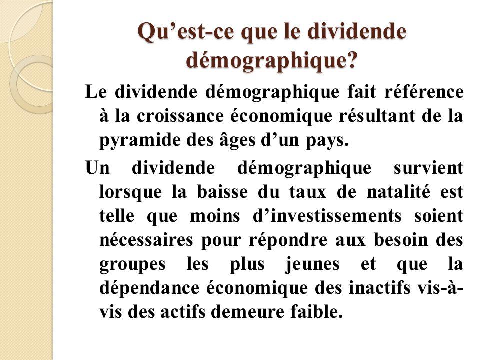 Qu'est-ce que le dividende démographique