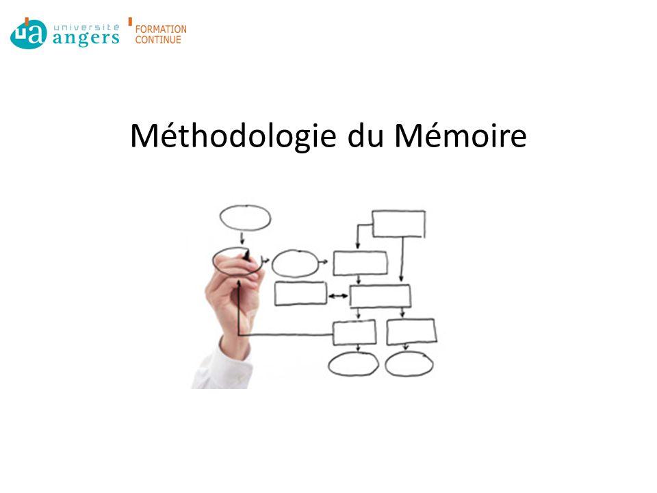 Méthodologie du Mémoire