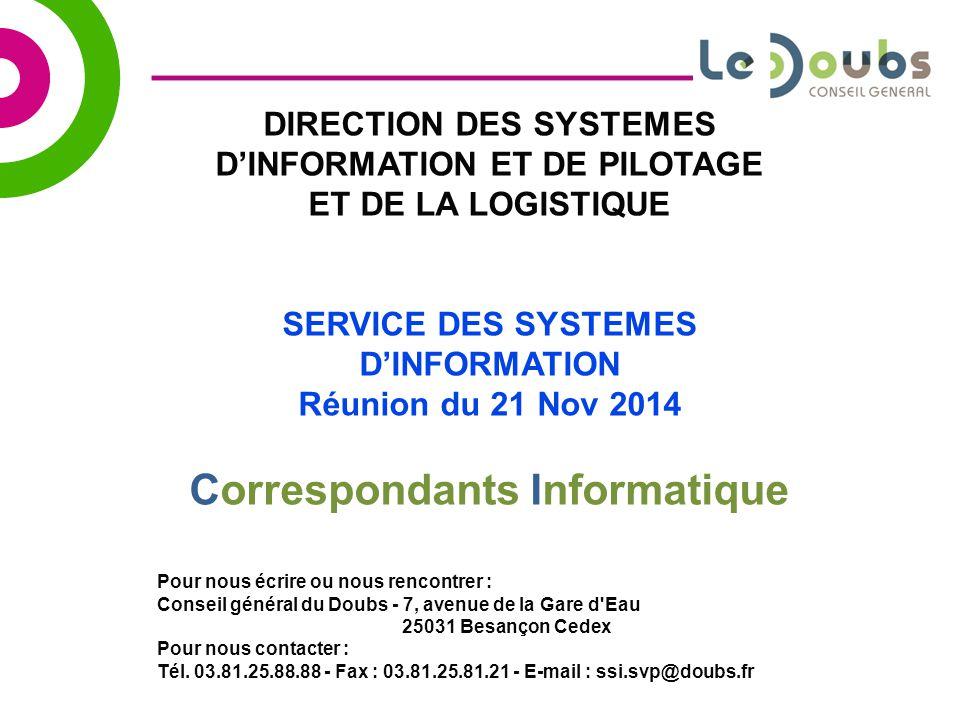 Service des systemes d information correspondants - Cabinet conseil systeme d information ...