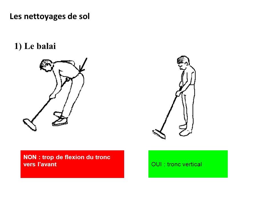 Les nettoyages de sol 1) Le balai