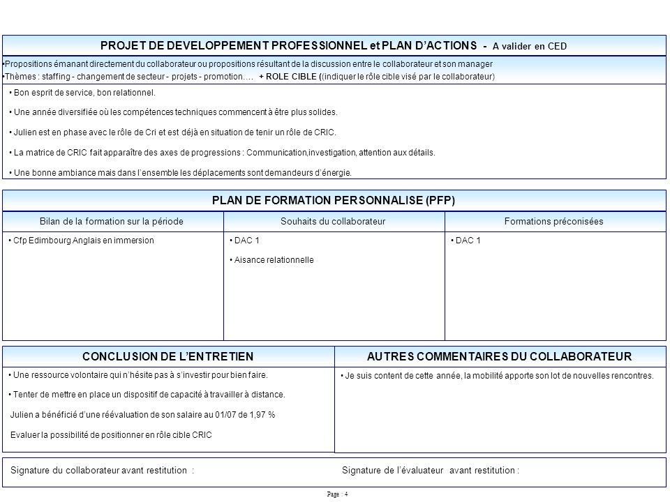 Exemple entretien annuel rempli - Exemple grille entretien annuel d evaluation ...