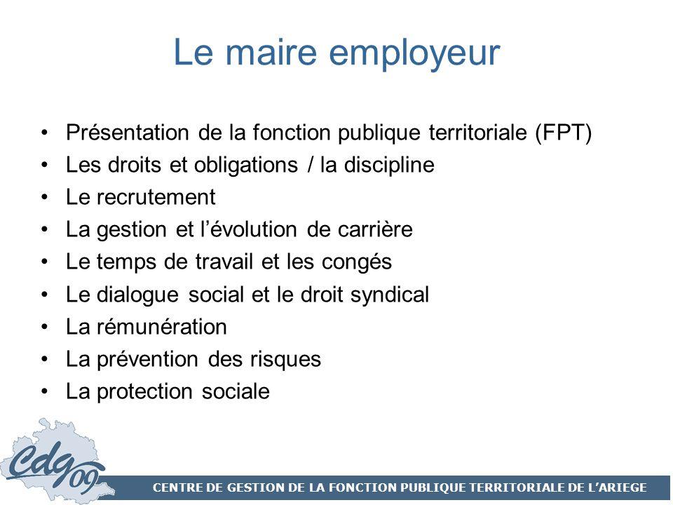 Centre de gestion de la fonction publique territoriale de - Grille evolution carriere fonction publique territoriale ...